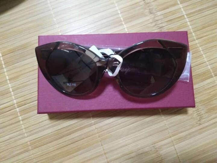 FERRAGAMO 菲拉格慕 女款水晶棕色镜框棕色镜腿咖色渐变镜片眼镜太阳镜 SF869SA 210 56MM 晒单图
