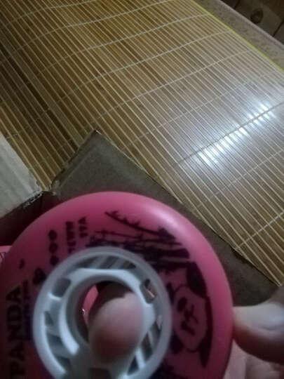 熊猫眼轮子溜冰鞋刹车轮平花轮花式直排轮滑鞋轮子 红色(4个) 76mm 晒单图