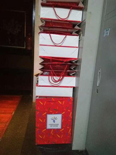 金号毛巾礼盒 纯棉条纹面巾2条装1809 2145大红色礼盒 2条装+礼盒 晒单图