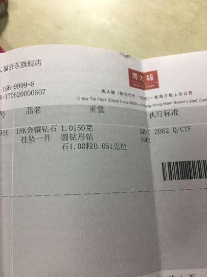 周大福 迪士尼公主系列 皇冠天鹅 18K金镶钻石吊坠 U115877 1900元 晒单图