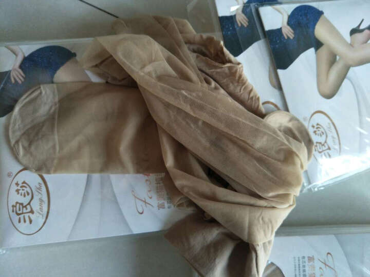 浪莎薄款连裤丝袜女士时尚性感透气假纹身连裤袜丝袜连裤超薄 黑色-性感高跟鞋 均码 晒单图