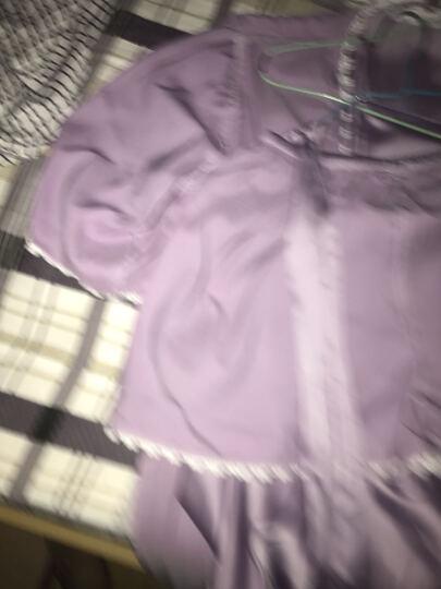 热妒睡衣女士夏季性感三件套吊带短裤睡裙家居服 5594普罗旺斯紫(三件套) M女 晒单图