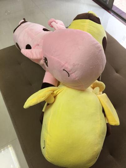 阳光猴 创意可爱长颈鹿公仔抱枕大号靠垫小鹿长抱枕毛绒玩具布娃娃玩偶生日礼物女生 粉红色趴鹿 80厘米 晒单图