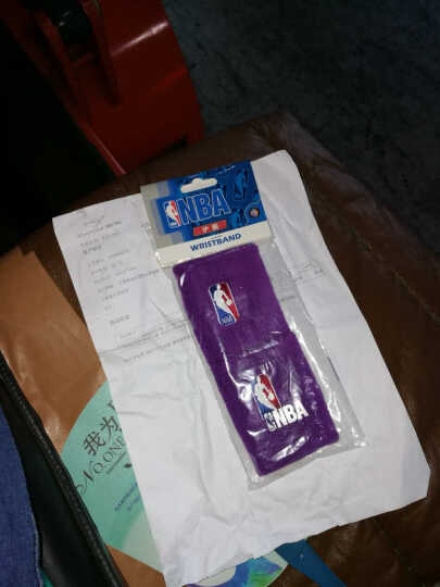 NBA 篮球护腕(2只装)毛圈跑步健身吸汗擦汗运动护腕 弹力精梳棉透气型羽毛球护手腕 紫色N5XW1001M-F 均码 晒单图
