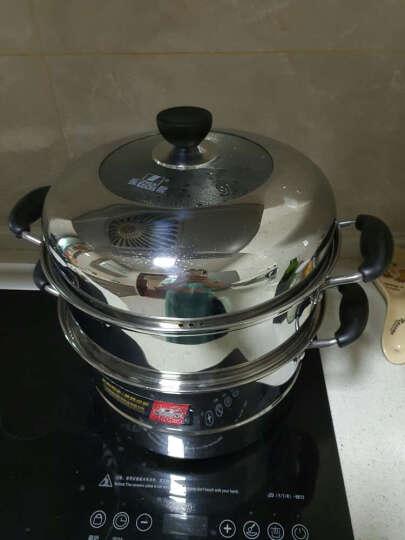 振能(ZHENNENG) 二层蒸锅不锈钢复底 电磁炉烹饪锅具 24 26 28 30cm 32cm 晒单图