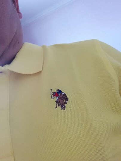 【美国大牌】U.S. POLO ASSN polo衫男长袖春装马球协会男士纯棉修身翻领纯色 黑色 L 晒单图