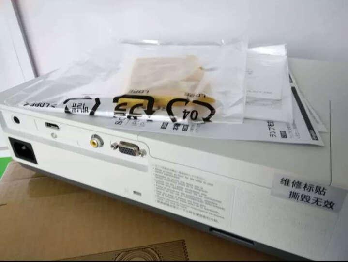 索尼(SONY)投影仪办公 高清培训教育商务便携投影机 VPL-EX455(3600流明 白天直投) 含100英寸电动遥控幕+15米高清线+吊架+安装 晒单图