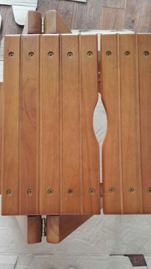 施豪特斯(SHTS) 凳子 实木吧台椅子休闲椅换鞋凳阶梯凳FST-65 蜜糖色 晒单图