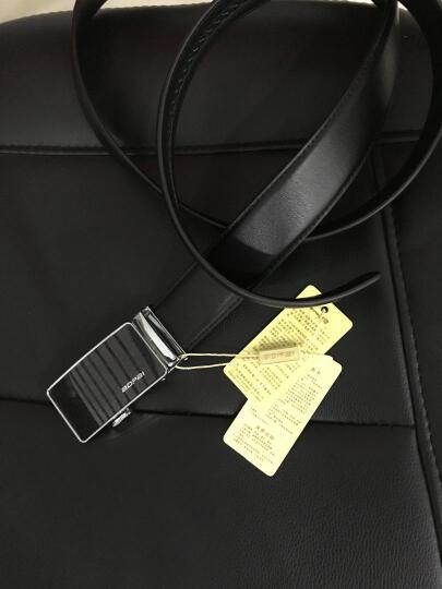 博牌bopai皮带男士牛皮腰带男式韩版自动扣裤带潮 黑色713-005891 晒单图