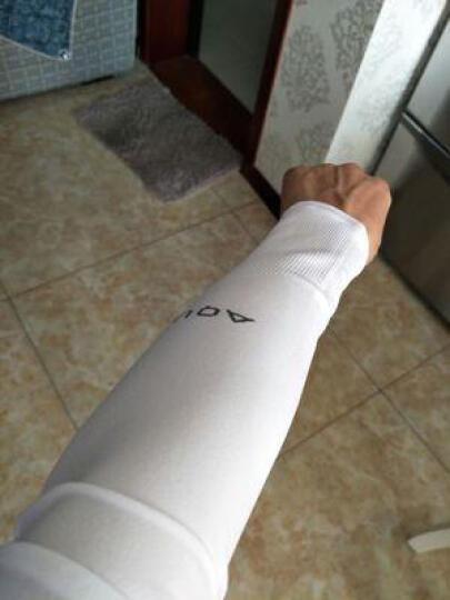 洛芊冰袖防晒手套 男女长款防晒袖套夏季冰爽冰丝套袖 直筒款红色 晒单图