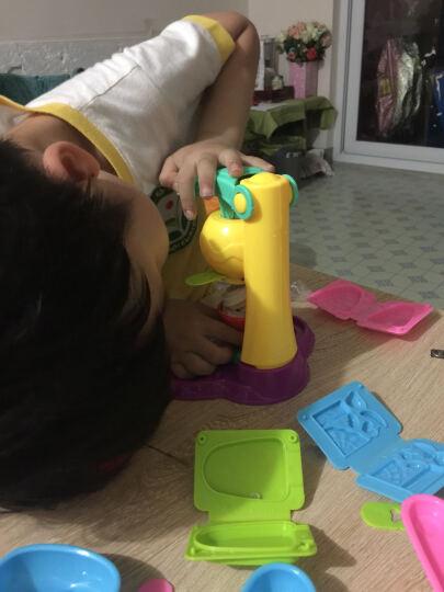 爸爸妈妈(babamama)橡皮泥模具套装 儿童手工DIY玩具 轻粘土工具冰淇淋雪糕机带5色彩泥 B3004 晒单图