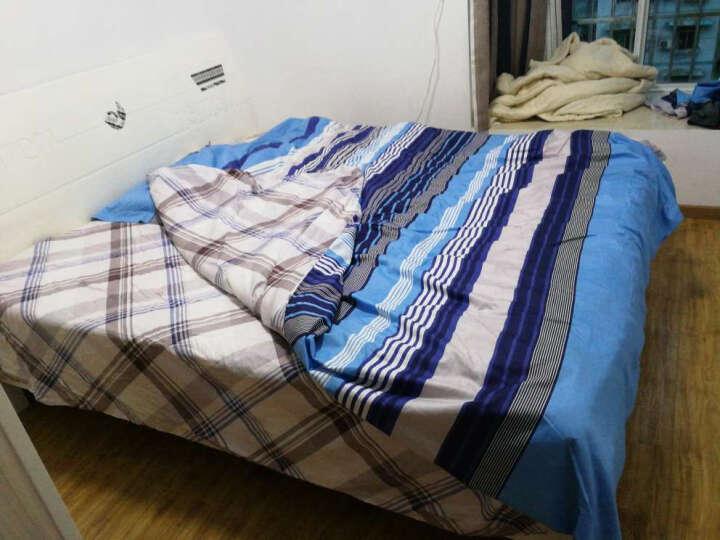梦洁家纺出品 MEE 床品套件 纯棉印花四件套 全棉床单被罩 切希尔海滩 1.8米床 220*240cm 晒单图