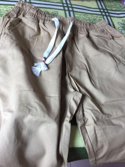 百酷源 短裤男士2017夏装五分裤男沙滩裤夏薄款D591 卡其 XL 晒单图