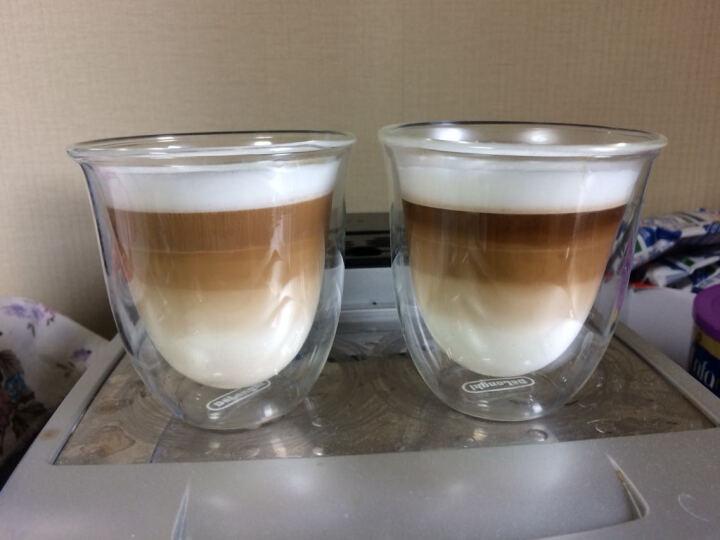 德龙(Delonghi)咖啡机 双层咖啡玻璃水杯 中号(190ml*2) 晒单图