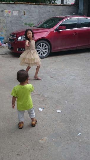 南极人(Nan Ji ren) 女童连衣裙夏儿童公主裙金丝镂空礼服裙蛋糕背心裙 金黄色 120码建议身高120cm 晒单图