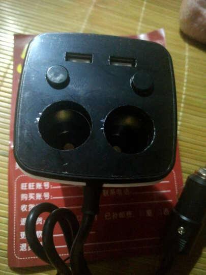 华奈 车载充电器 车充点烟器 3.1A双USB一拖二 电压检测LED数显 独立开关 杯充 33 H9珠光白带电压检测+数据线+手机支架 晒单图