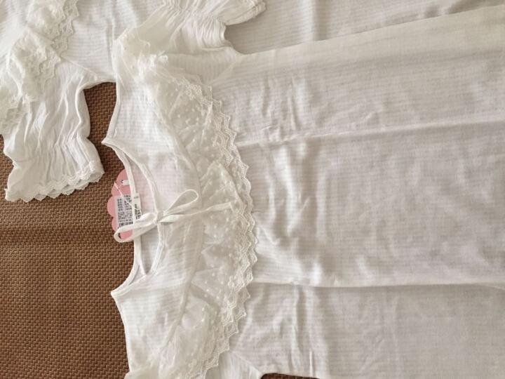 儿童睡衣女夏季短袖女童睡裙纯棉公主家居服宽松亲子母女 8197套装 肉粉色 140cm(建议身高133-142cm) 晒单图