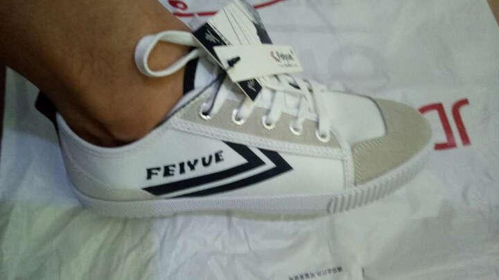 飞跃(Feiyue)男女低帮经典款帆布鞋潮流拼接休闲鞋时尚百搭小白鞋 8111 白红蓝 39码 晒单图