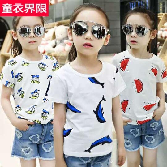 [清仓款18.8元]童装女童短袖夏装纯棉小女孩t恤上衣 迪士尼-灰 160尺码 晒单图