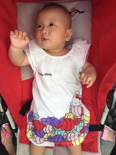 Hello Kitty童装女童木耳短袖连衣裙KA721RA30W0173本白73 晒单图