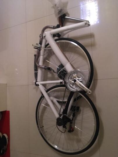 凤凰(Phoenix) 复古公路自行车14速禧玛诺变速公路车700C男女越野公路单车 复古-白 晒单图