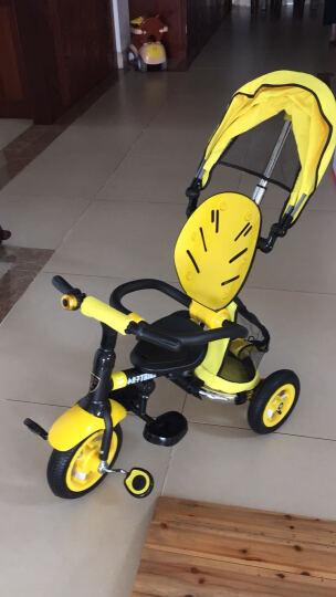 小虎子(little tiger)儿童三轮车脚踏车 可折叠婴儿车童车 宝宝手推车 魔方系列T300 充气轮 柠檬黄 晒单图