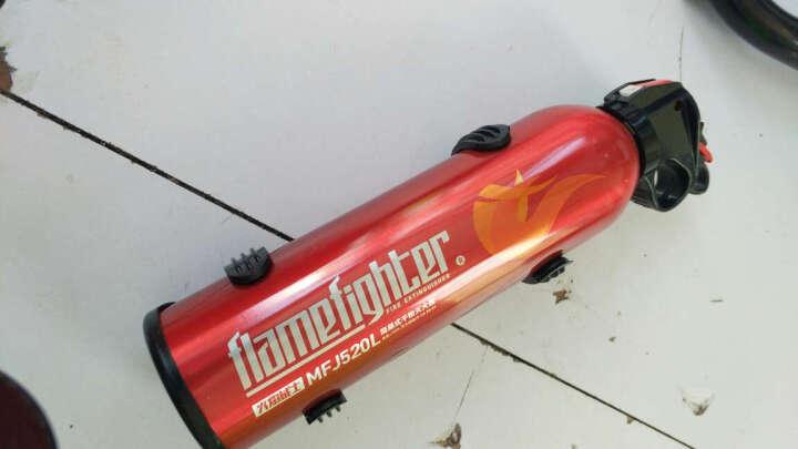 路趣 送固定架汽车用车载灭火器小车家用干粉消防器材FlameFighter 600g蓝色 晒单图