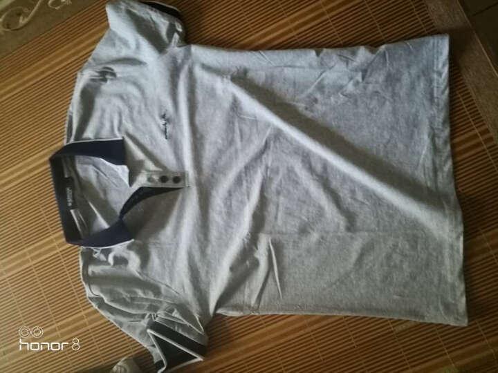 WUJIXIAN T恤男2018韩版修身男士翻领POLO衫休闲棉短袖T恤男 6013灰色 M 晒单图