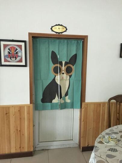 卡通可爱动物棉门帘布艺儿童半帘卫生间玄关隔断卧室厨房遮光窗帘加厚 眼镜狗 85cm*120cm 晒单图