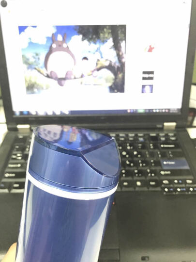 知更(ROBINCUP)Ms.Color随身杯 时尚便携塑料杯 家居办公运动防漏男女士情侣莹彩随手水杯355ml  珍珠白 晒单图