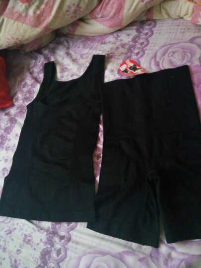 卓比特2017春季新款产后塑身衣收腹背心束腰收胃美体衣塑裤分体收腹套装女 黑色 L 晒单图