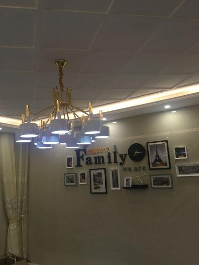 鹏瑞 后现代客厅吊灯北欧简约餐厅卧室书房创意锤子灯具别墅展厅咖啡厅灯饰 白色双层8+4 晒单图