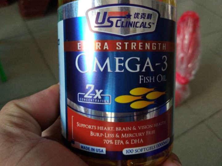 【浓缩型】新加坡优克利深海鱼油软胶囊Omega-3欧米伽3 100粒/瓶 单瓶装 晒单图