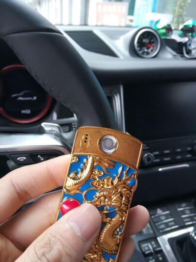 奇域 神龙戏珠USB充电打火机防风电热丝电子点烟器 送男朋友生日礼物 创意时尚个性打火机免费刻字 神龙戏珠绿色 晒单图