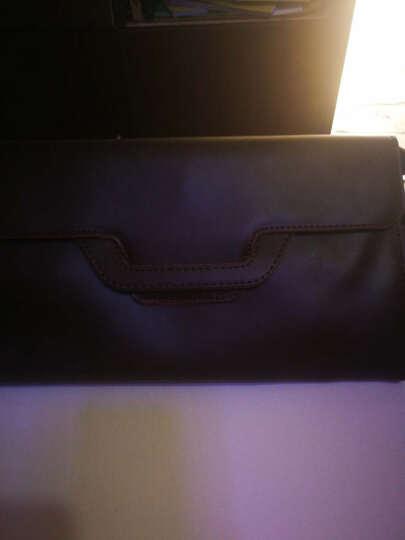 男士手包 男士新款多功能手抓包 原创设计手拿包 休闲时尚手抓文件信封包 咖色 晒单图