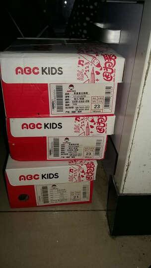 abckids童鞋男童鞋女童鞋春秋新款宝宝鞋透气儿童运动鞋跑步鞋 浅灰军绿 24码/(内长约14.8cm) 晒单图