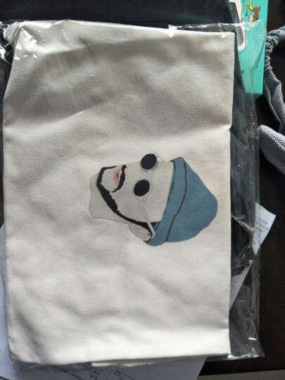 文艺清新单肩包女生手提帆布包卡通时尚环保购物袋学生潮 白色香奈儿拉链 晒单图