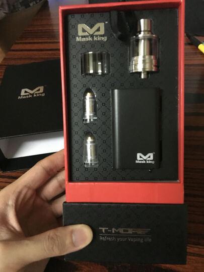 Mask king电子烟套装美国品牌T-MORE100W不锈钢盒子大烟雾电子烟 活塞银色款 晒单图