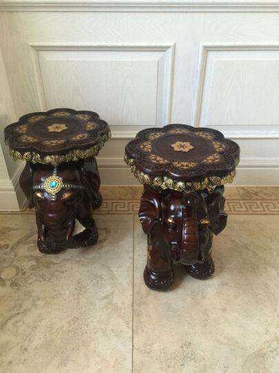 大象凳子换鞋凳大象摆件欧式家居装饰品客厅摆设新房乔迁礼品 901木色 晒单图