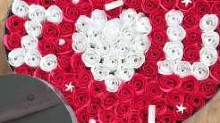 阿波罗之梦520心形鲜红玫瑰花香皂花礼盒同城配送生日礼物送女友老婆生日纪念日礼品结婚表白送女生送女友 晒单图