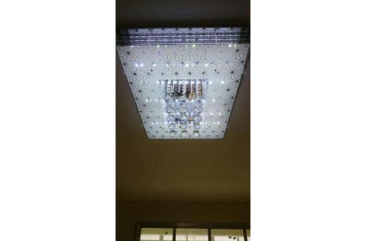 晶致 led客厅灯吸顶灯长方形卧室灯水晶灯现代简约时尚餐厅灯饰 调光灯具套餐 套餐五-三室两厅5件套到手价1080元 晒单图