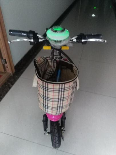 威科朗(weklan) 威科朗电动三轮车迷你折叠电动车电动自行车电动滑板车女士小型电动车 迷彩蓝-升级双人座+靠背 48V蓄电池-350W无刷电机-续航40-45公里 晒单图