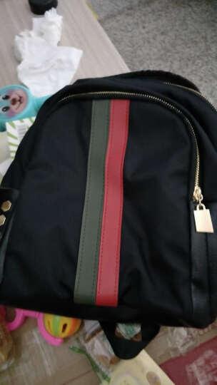 诗曼妮(Shimanni)女包时尚五款款双肩包 水洗皮柳钉简约背包 8807红绿撞色 晒单图
