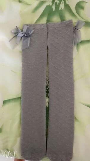 儿童连裤袜秋冬加厚加绒精梳棉弹力女童保暖打底裤子小女孩白色舞蹈袜子 纯色 白色 L码 身高105-120 晒单图