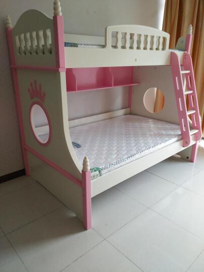 雅思洛 儿童床女孩上下床公主高低子母床双层床铺806A 807双层床+拖床+梯柜 1500*1900 晒单图