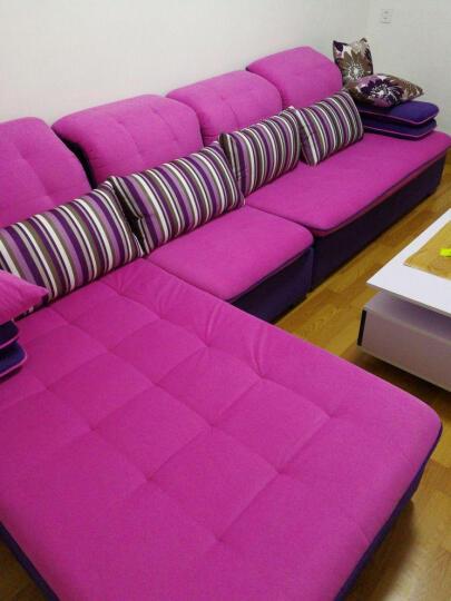 布佑 沙发 布艺沙发 客厅沙发组合 小户型贵妃可拆洗沙发 北欧沙发床客厅整装家具 紫红+粉红 双位+单位+左贵妃(送地毯) 晒单图