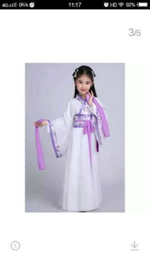 古风汉服头饰发簪子古代步摇流苏儿童发夹女 天蓝色+白色 一套包邮 晒单图