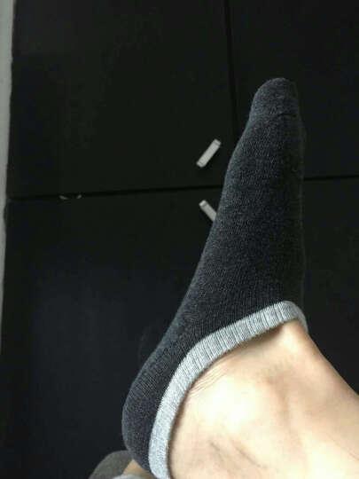 HKO袜子男士船袜隐形防臭优质长绒棉纯棉夏季浅口低帮薄款短袜四季款男生休闲袜子 复古拼色男船袜 36~43码【三双装】 晒单图