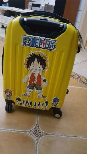 儿童行李箱蜘蛛侠拉杆箱包旅行箱子万向轮男女学生大黄蜂登机箱小孩密码箱拉链箱20 大白 20寸 晒单图
