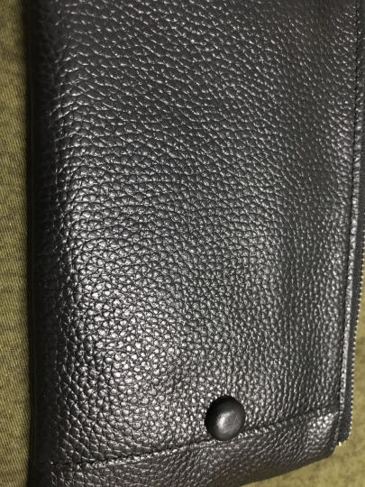 YESSBON钱包男长款超薄皮夹子多功能拉链皮夹男士牛皮手机包多卡位真皮钱夹 黑色油蜡皮 晒单图